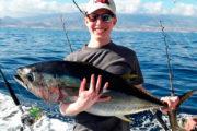 Pêcheur content à Tenerife